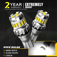 Pair Bulbs W16W Reverse LED 10W White Backup Bright Canbus For Audi A7 2010-2016