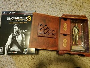 Uncharted 3 PS3 Collector's Edition Contents, Figure, Ring, etc. with NO GAME