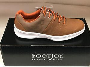 NEW FootJoy Contour Casuals 54057 Brown Men's Golf Shoes 12N Were $135