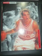 1995 UNIVERSITY OF WISCONSIN BADGERS VS MICHIGAN WOLVERINES BASKETBALL PROGRAM