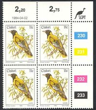 Ciskei 1981 ('84 prt) Birds/Nature/Oriole c/b (n20001)