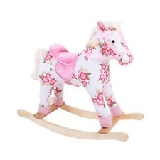 BIGJIGS FLORAL ROCKING HORSE BOXED NEW IDEAL CHRISTMAS GIRLS GIFT PINK HORSE NEW