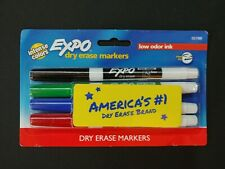 Expo Dry Erase Markers Intense Colors Low Odor Ink 4 Pack 55788 Brand New O2