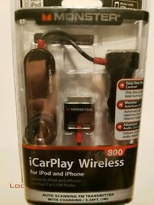 MONSTER 800 iCAR PLAY WIRELESS FOR iPOD OR iPHONE ON YOUR CAR'S FM RADIO