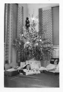 Vintage FOUND PHOTO Chistmas Tree bw FREE SHIPPING Original Snapshot 04 43 S