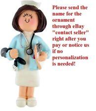 HOSPITAL CLINIC HEALTH PEDIATRIC NURSE LADY PERSONALIZED CHRISTMAS TREE ORNAMENT
