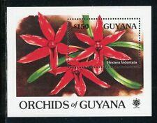Guyana Scott #2375 MNH S/S Orchids $150 EXPO '90 CV$9+