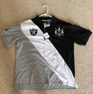 NFL Team Apparel Raiders Polo Shirt XL NEW