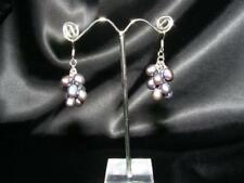 SALE 9ct 9K Gold Filled Wedding Bridal Peacock Freshwater Pearls Earring E220