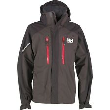 BOYS HELLY HANSEN BELFAST WATERPROOF JACKET - AGE 16 - BLACK/GREY - HELLY TECH.
