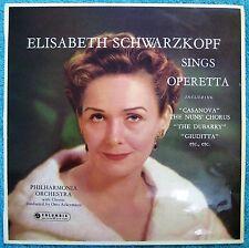 ELISABETH SCHWARZKOPF Sings Operetta- LP- Ackerman- Aussie 1st pressing Stereo