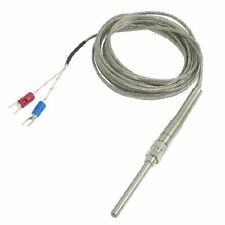K Type 800C Probe Thermocouple Temperature Sensor Cable by Amico - 9.8ft 3 Meter