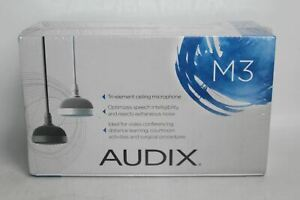 AUDIX M3 Tri-Element Hanging Ceiling Microphone With Hypercardioid Capsules NEW
