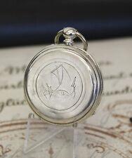 Antike franz. Seehfahrer Schlüssel Taschenuhr pocket watch Cylindre huit Rubis