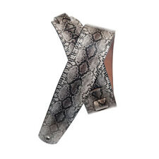 D'Addario Leather Guitar Strap, Python design