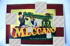Colour Print of Meccano Outfit No.7 Lid showing Giant Block Setting Crane. 1950s