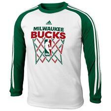 ADIDAS Milwaukee Bucks nba SHOOTING/WARMUP Jersey YOUTH KIDS BOYS (L)