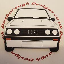 Ford MK2 Escort Rs 2000 Large Fridge Tool Box Magnet Coaster White