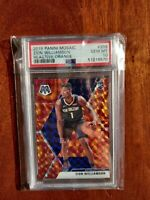 ZION WILLIAMSON 2019-20 PANINI MOSAIC ORANGE REACTIVE PRIZMS RC GRADED PSA 10