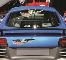 1PCS 3D Girl's Peeking Eyes Funny Car Van Bumper Window Vinyl Sticker Decal CA