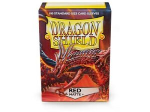 Dragon Shields: (100) Matte Red