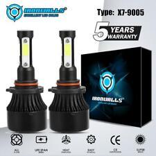 4-Sides 9005 LED Headlight Kit 6000K for Chevy Silverado1500 2500 HD 2001-2006