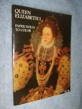 1973 Queen Elizabeth I Paper dolls to Color (Bellerophon Books)
