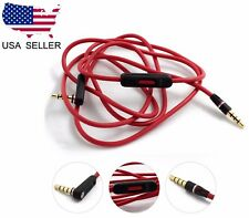 OEM Original 3.5mm Audio Jack L Cord Beats Dr Dre Headphone Aux Mic Control Talk