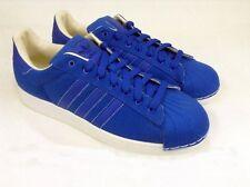 Adidas Men's Superstar Blue Canvas Gym Shoes, Size 11.5