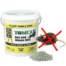 10 lb Tomcat Rat and Mouse Bait Pellet Poison Rodent Pest Control Trap Killer