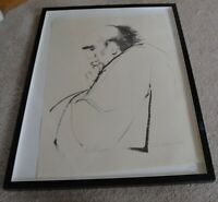 REBA DICKERSON HILL  AFRICAN AMERICAN ARTIST LITHOGRAPH THE PHILOSOPHER RARE