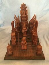 Bali Wood Carving of a Wedding Ceremony w/ Removable Pieces
