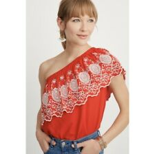 Stella & Dot One Shoulder Embroidered Top - Hannah