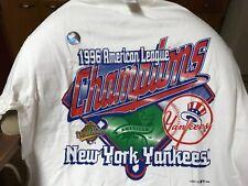 1996 NEW YORK YANKEES AMERICAN LEAGUE Champions (LG) T-Shirt hologram mint stock