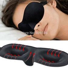 3D Soft Sponge Sleeping Sleep Aid Eye Mask Blindfold Shade Plane Blackout UK