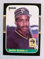 BARRY BONDS Pittsburgh Pirates 1987 Donruss RC Rookie Card #361 - (a)