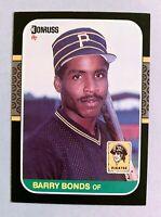 BARRY BONDS Pittsburgh Pirates 1987 Donruss RC Rookie Card #361 - (a)