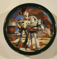 """Disney """"Toy Story"""" Wall Clock Woody and Buzz Light year Battery operated"""