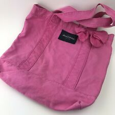 Abercrombie & Fitch-Cotton Bag Tote-Beach/School-Shoulder Pink Bow detail