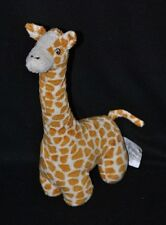 Peluche doudou girafe H&M blanc beige brun yeux brodés 29 cm TTBE