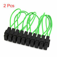 10Pcs Green Black Plastic Motorcycle Car Wire In line Fuse Holder Cover Box