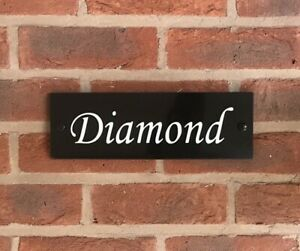 """Customised stable door horse name plaque sign plate 12""""x3"""""""