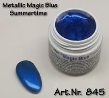 5 ml  UV Exclusiv Summertime Farbgel Metallic Magic Blue Gel Nr.845
