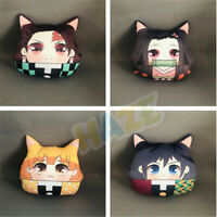 Anime Demon Slayer:Kimetsu no Yaiba Oreiller chauffe-main en peluche double face