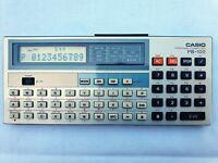 Pocket Personal Computer CASIO PB-100, BASIC Calculator, Taschenrechner, PC #565