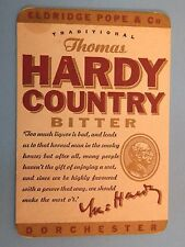 Beer Brewery Coaster ~ Eldridge Pope THOMAS HARDY Country Bitter ~ Dorchester UK