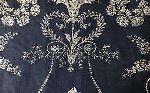 "11x16""  Laura Ashley cushion cover Josette Midnight & Austen Off White reverse"