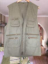 Mens 2XL Multi Pocket Mesh Vest Fishing Photography Travel Jacket Quick-Dry XXL