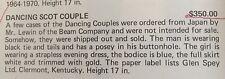 Jim Beam Dancing Scot Couple Decanter