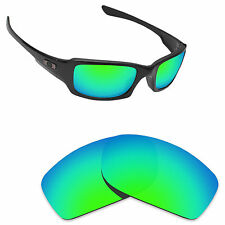 Hawkry Polarized Replacement Lenses for-Oakley Fives Squared Emerald Green